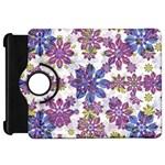 Stylized Floral Ornate Pattern Kindle Fire HD Flip 360 Case Front