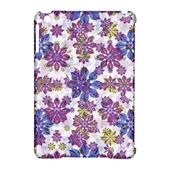 Stylized Floral Ornate Pattern Apple Ipad Mini Hardshell Case (compatible With Smart Cover)