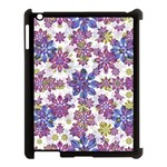 Stylized Floral Ornate Pattern Apple iPad 3/4 Case (Black) Front
