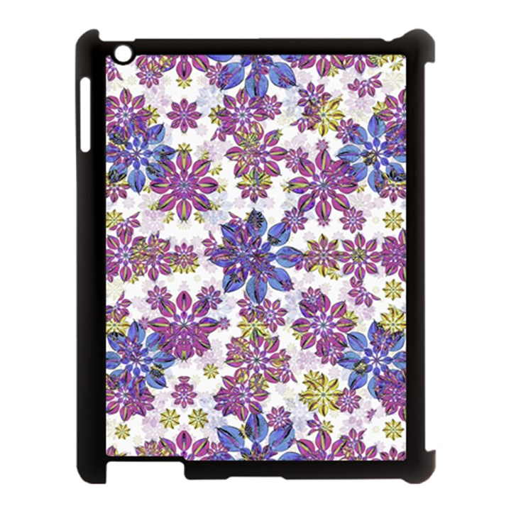 Stylized Floral Ornate Pattern Apple iPad 3/4 Case (Black)