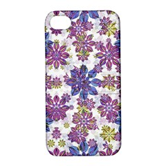Stylized Floral Ornate Pattern Apple Iphone 4/4s Hardshell Case With Stand by dflcprints