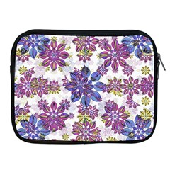 Stylized Floral Ornate Pattern Apple Ipad 2/3/4 Zipper Cases by dflcprints