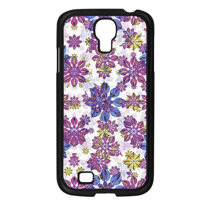Stylized Floral Ornate Pattern Samsung Galaxy S4 I9500/ I9505 Case (Black)
