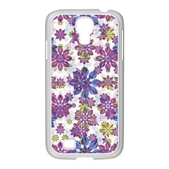 Stylized Floral Ornate Pattern Samsung Galaxy S4 I9500/ I9505 Case (white)