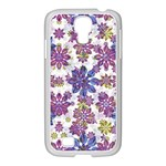 Stylized Floral Ornate Pattern Samsung GALAXY S4 I9500/ I9505 Case (White) Front