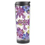 Stylized Floral Ornate Pattern Travel Tumbler Right