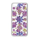 Stylized Floral Ornate Pattern Apple iPhone 5C Seamless Case (White) Front