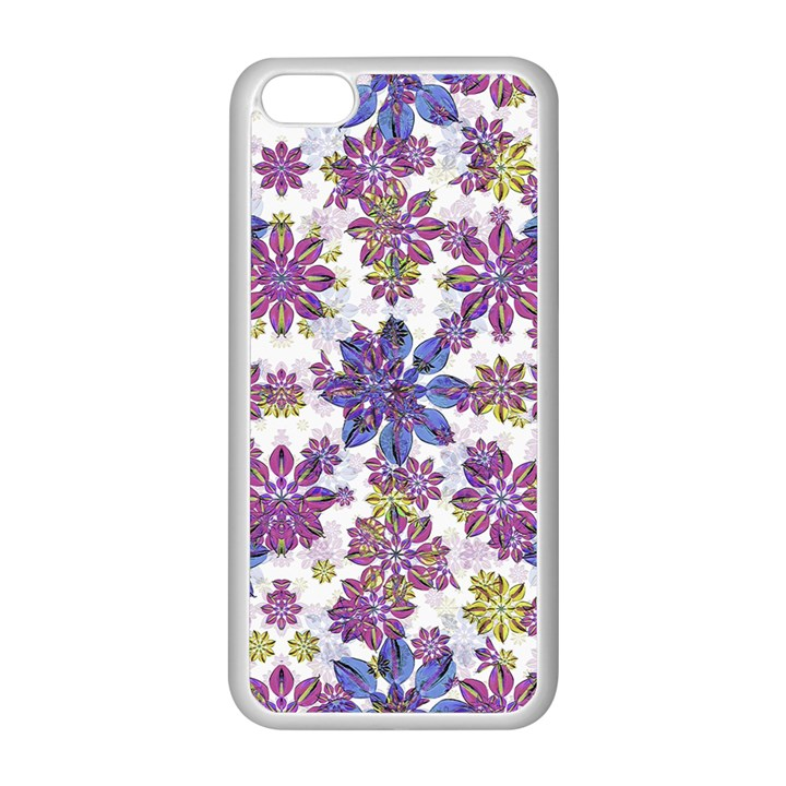 Stylized Floral Ornate Pattern Apple iPhone 5C Seamless Case (White)