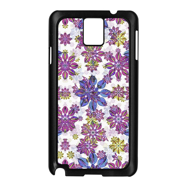 Stylized Floral Ornate Pattern Samsung Galaxy Note 3 N9005 Case (Black)