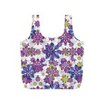 Stylized Floral Ornate Pattern Full Print Recycle Bags (S)  Front