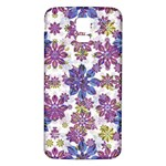 Stylized Floral Ornate Pattern Samsung Galaxy S5 Back Case (White) Front