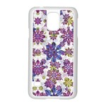 Stylized Floral Ornate Pattern Samsung Galaxy S5 Case (White) Front