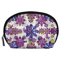 Stylized Floral Ornate Pattern Accessory Pouches (large)