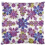 Stylized Floral Ornate Pattern Large Flano Cushion Case (Two Sides) Front