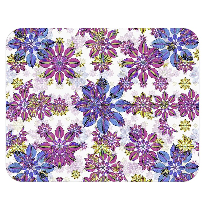 Stylized Floral Ornate Pattern Double Sided Flano Blanket (Medium)