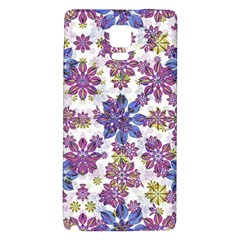 Stylized Floral Ornate Pattern Galaxy Note 4 Back Case by dflcprints
