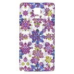 Stylized Floral Ornate Pattern Galaxy Note 4 Back Case Front