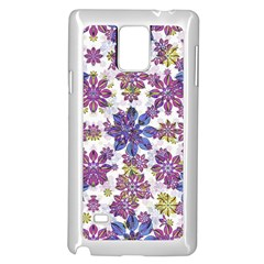 Stylized Floral Ornate Pattern Samsung Galaxy Note 4 Case (white) by dflcprints