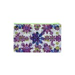 Stylized Floral Ornate Pattern Cosmetic Bag (XS) Back