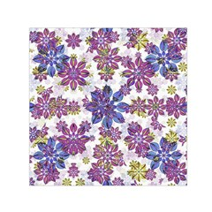 Stylized Floral Ornate Pattern Small Satin Scarf (square)  by dflcprints