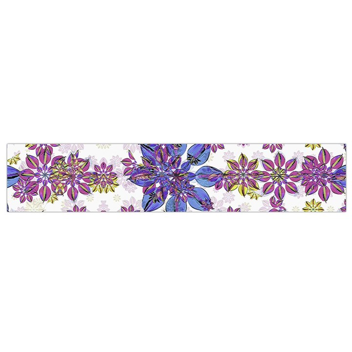 Stylized Floral Ornate Flano Scarf (Small)