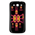 Alphabet Shirt R N R Samsung Galaxy S3 Back Case (Black) Front