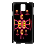 Alphabet Shirt R N R Samsung Galaxy Note 3 N9005 Case (Black) Front