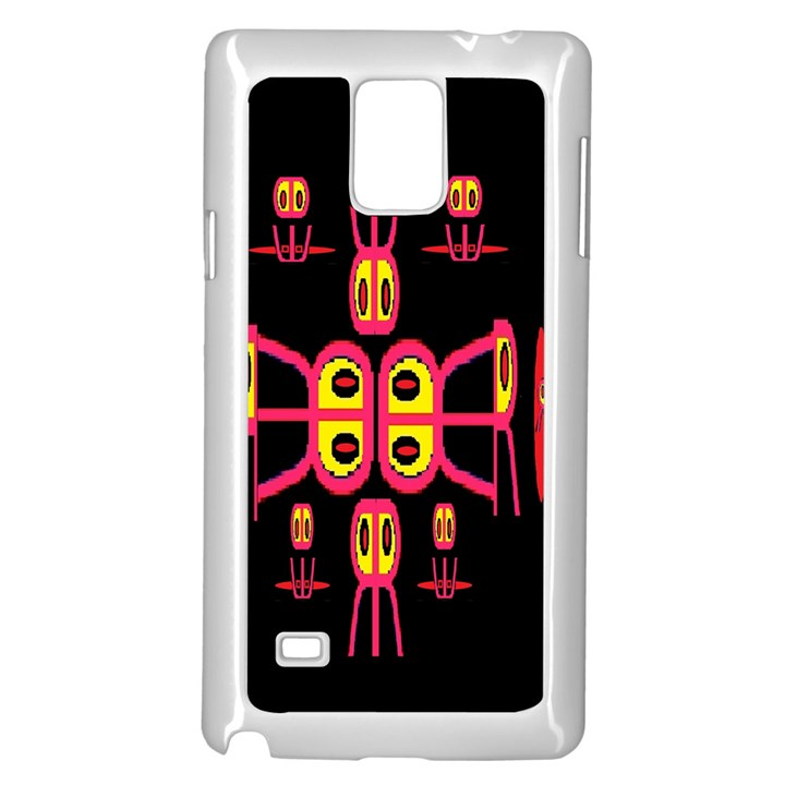 Alphabet Shirt R N R Samsung Galaxy Note 4 Case (White)