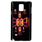 Alphabet Shirt R N R Samsung Galaxy Note 4 Case (Black) Front