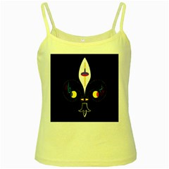 FLOWER OF LIFE TWO Yellow Spaghetti Tank