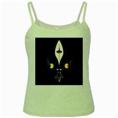 FLOWER OF LIFE TWO Green Spaghetti Tank