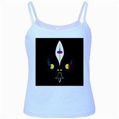 FLOWER OF LIFE TWO Baby Blue Spaghetti Tank
