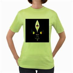 FLOWER OF LIFE TWO Women s Green T-Shirt