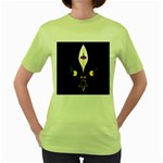FLOWER OF LIFE TWO Women s Green T-Shirt Front