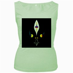 FLOWER OF LIFE TWO Women s Green Tank Top