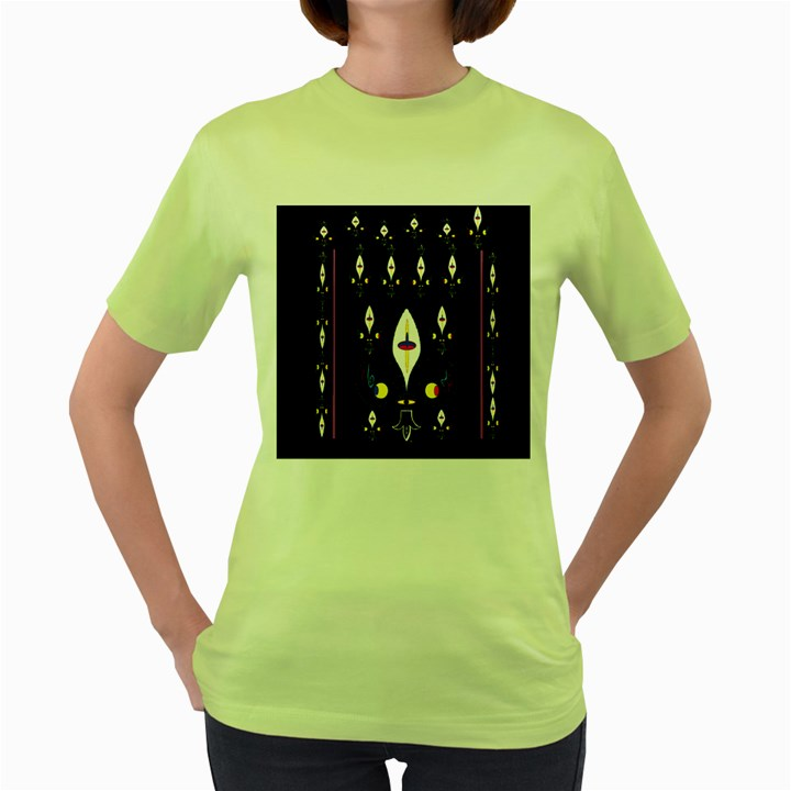 Clothing (25)gee8dvdynk,k;; Women s Green T-Shirt