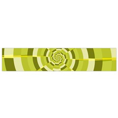 Crazy Dart Green Gold Spiral Flano Scarf (small) by designworld65