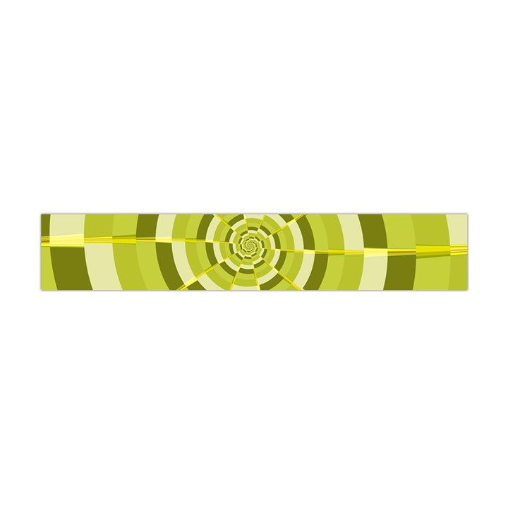 Crazy Dart Green Gold Spiral Flano Scarf (Mini)