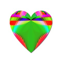 Colorful Abstract Butterfly With Flower  Heart Magnet by designworld65