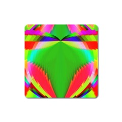 Colorful Abstract Butterfly With Flower  Square Magnet by designworld65
