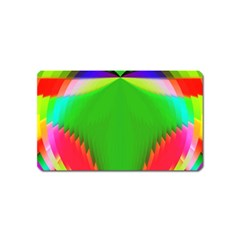Colorful Abstract Butterfly With Flower  Magnet (name Card) by designworld65