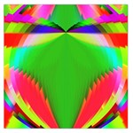 Colorful Abstract Butterfly With Flower  Large Satin Scarf (Square) Front