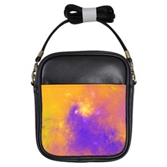 Colorful Universe Girls Sling Bags by designworld65