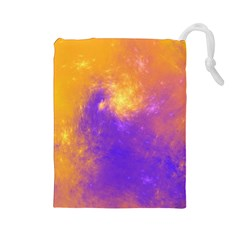 Colorful Universe Drawstring Pouches (large)  by designworld65