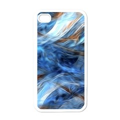 Blue Colorful Abstract Design  Apple Iphone 4 Case (white) by designworld65