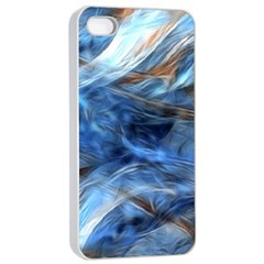 Blue Colorful Abstract Design  Apple Iphone 4/4s Seamless Case (white) by designworld65