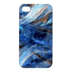 Blue Colorful Abstract Design  Apple Iphone 4/4s Hardshell Case by designworld65