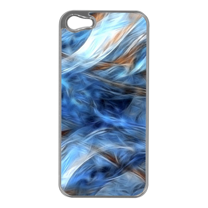 Blue Colorful Abstract Design  Apple iPhone 5 Case (Silver)