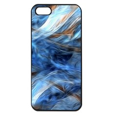Blue Colorful Abstract Design  Apple Iphone 5 Seamless Case (black) by designworld65