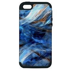 Blue Colorful Abstract Design  Apple Iphone 5 Hardshell Case (pc+silicone) by designworld65